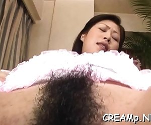 Excited slut gets her moist pussy thoroughly examined